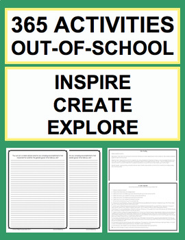 Daily Prompts & Activities to Inspire - Create - Explore