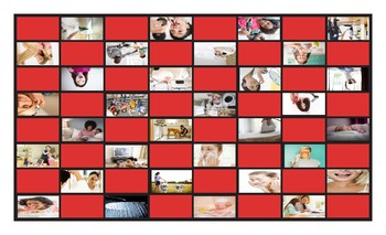 Daily Activities Legal Size Photo Checkerboard Game