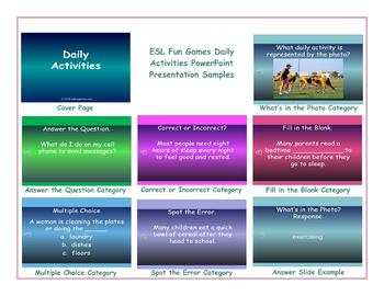 Daily Activities PowerPoint Presentation