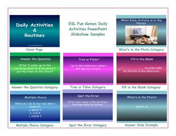 Daily Activities PowerPoint Slideshow