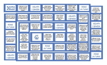 Daily Activities Spanish Board Game