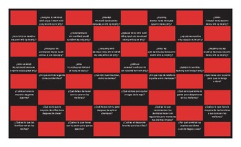 Daily Activities Spanish Checkers Board Game