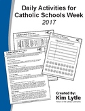 Daily Activities for Catholic Schools Week 2017