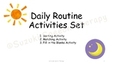 Daily Routine Activities Set
