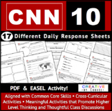 Daily Activity Sheets for CNN 10 & Channel One News, Commo