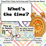 Daily Activity Telling Time PowerPoint Game