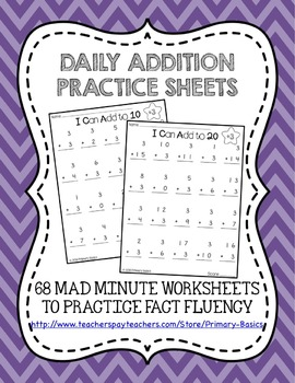 Daily Addition Practice Sheets