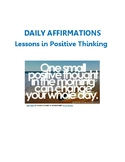 Daily Affirmations Activity