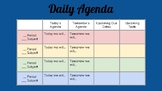 Daily Agenda [A Classroom With Autism in Mind]