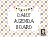 Daily Agenda Board - Spanish