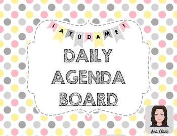 Daily Agenda Board - Spanish