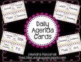 Daily Agenda Cards {Multi Colored Polka Dot}