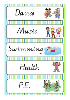 Daily Agenda Classroom Display