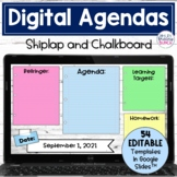 Daily Agenda Digital Templates | Editable Google Slides