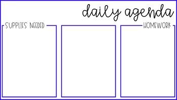 Daily Agenda - EDITABLE PPT Slides