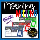 Daily Agenda Editable School Color Slides