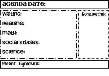Daily Agenda Form