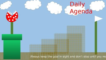 Daily Agenda Game Themed Powerpoint Background Mario Inspired