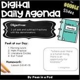 Daily Agenda Google Slide