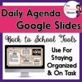 Daily Agenda Google Slides - Cork Board Design - 100% Cust