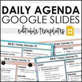 Daily Agenda Google Slides - Editable Templates #1 - Dista
