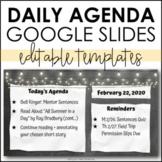 Daily Agenda Google Slides - Editable Templates #7 - Dista