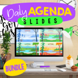 Daily Agenda Google™ Slides - Editable Templates - BUNDLE