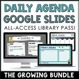 Daily Agenda Google Slides - Editable Templates BUNDLE - D