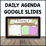Daily Agenda Google Slides - Editable Templates - Distance
