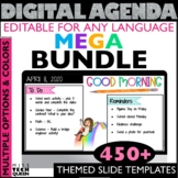 Daily Agenda Google Slides BUNDLE with Spring