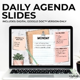 Daily Agenda Google Slides   SUCCULENT
