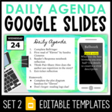 Daily Agenda Google Slides - Set 2