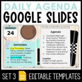 Daily Agenda Google Slides - Set 3