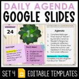 Daily Agenda Google Slides - Set 4