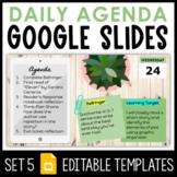 Daily Agenda Google Slides - Set 5