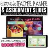 Daily Agenda Google Slides Teacher Planner BLENDED and DIS