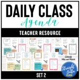 Daily Agenda Google Slides Template Set 2   Distance Learning