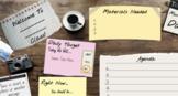 Daily Agenda Google Slides- Wood theme- Secondary
