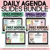 Daily Agenda Google Slides   YEAR-LONG BUNDLE
