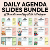 Daily Agenda Google Slides | YEAR-LONG BUNDLE