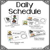 Daily Agenda Schedule Cards