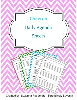Daily Agenda Sheets - Chevron