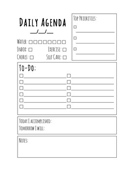 Daily Agenda - Simple Theme