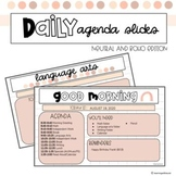 Daily Agenda Slides (Classroom or Distance Learning)