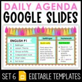 Daily Agenda Google Slides - Set 6
