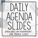 Daily Agenda Slides (PowerPoint & Google Slides versions)