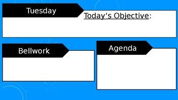 Daily Agenda Slides Template - Editable