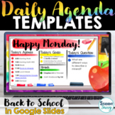 Daily Agenda Template | Daily Schedule Google Slides BACK
