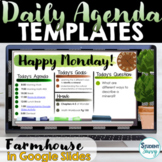 Daily Agenda Template | Daily Schedule Google Slides FARMH
