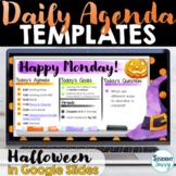 Daily Agenda Template | Daily Schedule Google Slides HALLO